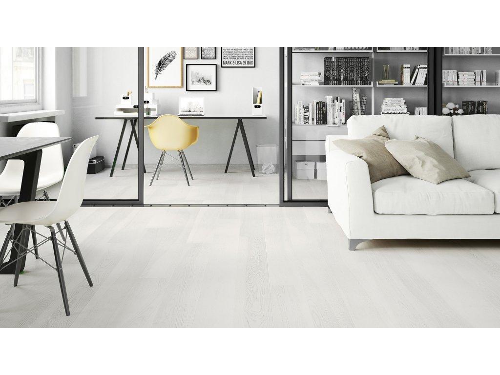 Dřevěná podlaha - Jasan Lemon Sorbet Grande (Barlinek) - třívrstvá