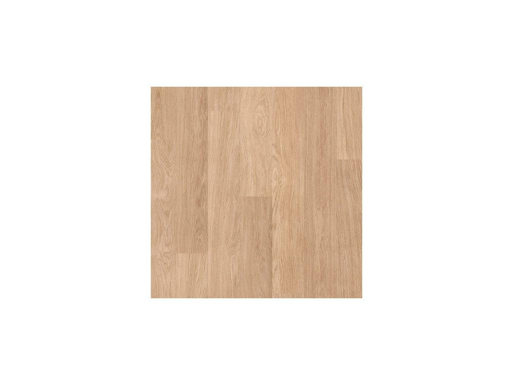 Laminátová podlaha - Bílé lakované dubové plaňky U915 (Quick Step)