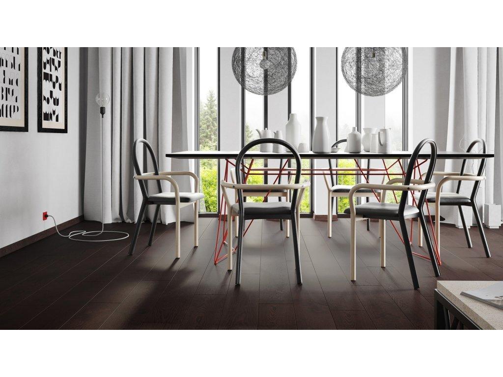 Dřevěná podlaha - Dub Affogato Grande (Barlinek) - třívrstvá
