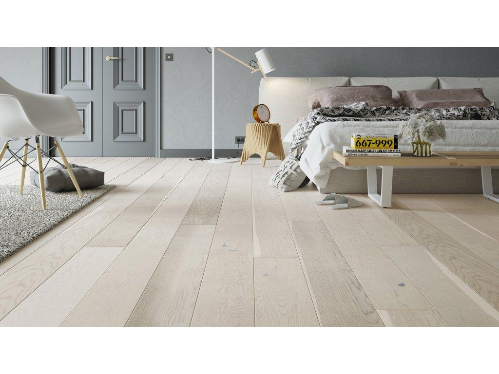 Dřevěná podlaha - Dub Cappuccino Grande (Barlinek) - třívrstvá