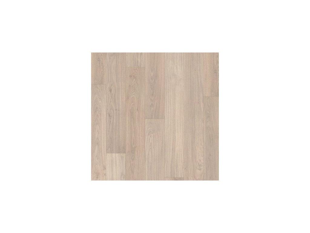 Laminátová podlaha - Dubová prkna světlešedá lakovaná UM1304 (Quick Step)