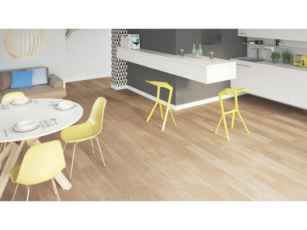 Dřevěná podlaha - Dub Cheesecake Grande (Barlinek) - třívrstvá