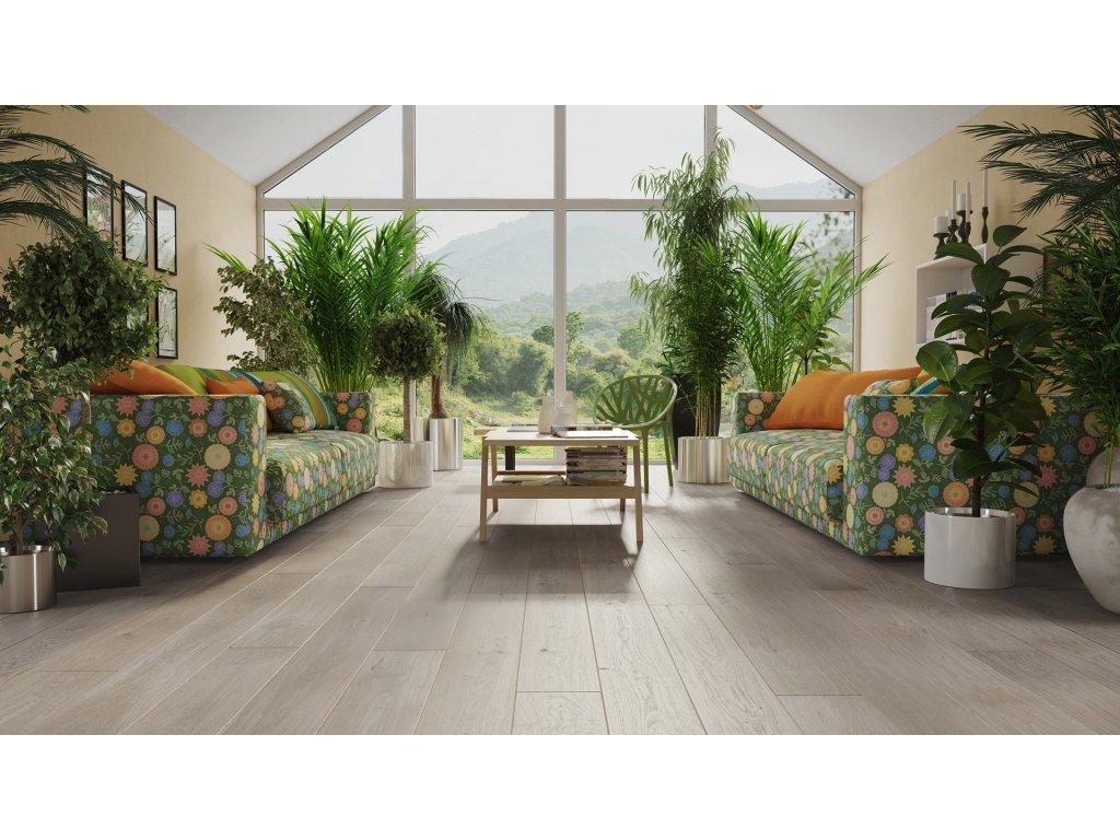 Dřevěná podlaha - Dub Marzipan Muffin Grande (Barlinek) - třívrstvá