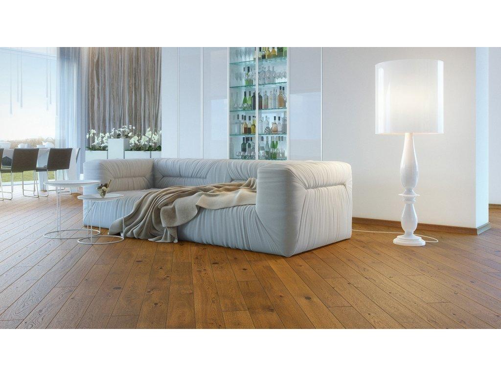 Dřevěná podlaha - Dub Sugar Brown Piccolo (Barlinek)