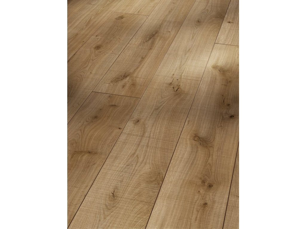 Laminátová podlaha - Dřevorubecký dub, struktura uříznutého dřeva 1371172 (Parador)