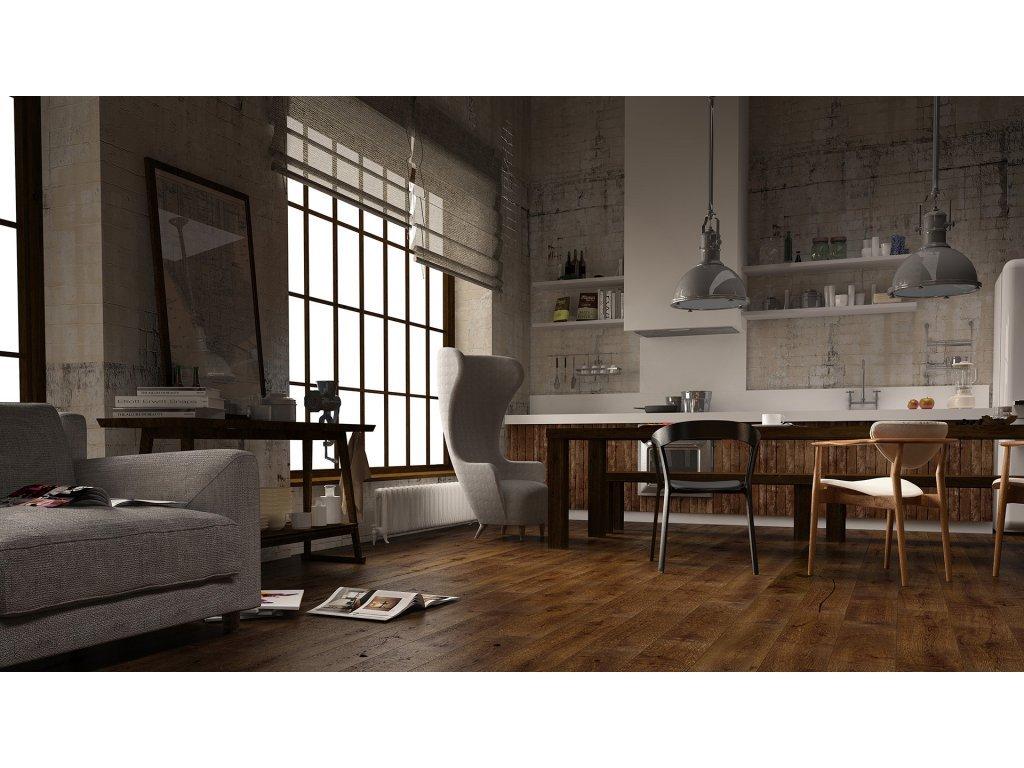 Dřevěná podlaha - Dub Marsala Grande (Barlinek)