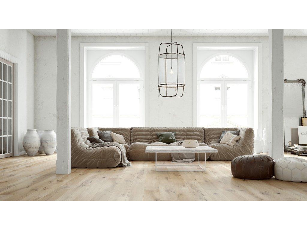 Dřevěná podlaha - Dub Ivory Grande (Barlinek)