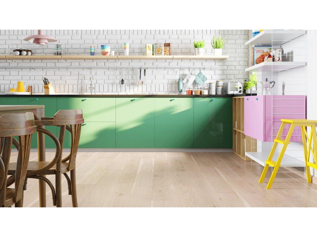 Dřevěná podlaha - Dub Pudding Grande (Barlinek) - třívrstvá