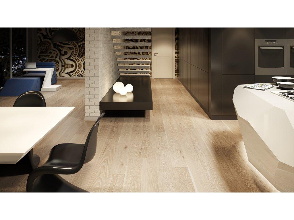 Dřevěná podlaha - Dub Grissini Grande (Barlinek) - třívrstvá