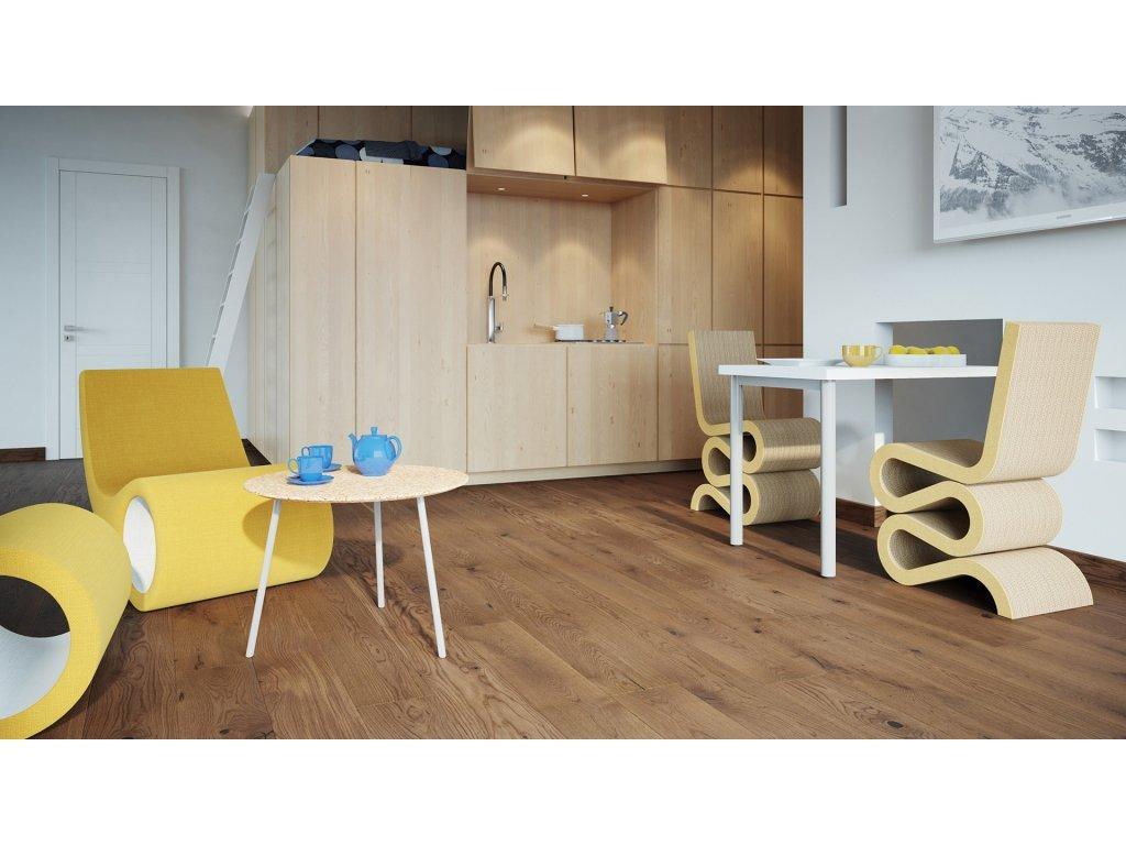 Dřevěná podlaha - Dub Toffee Grande (Barlinek) - třívrstvá