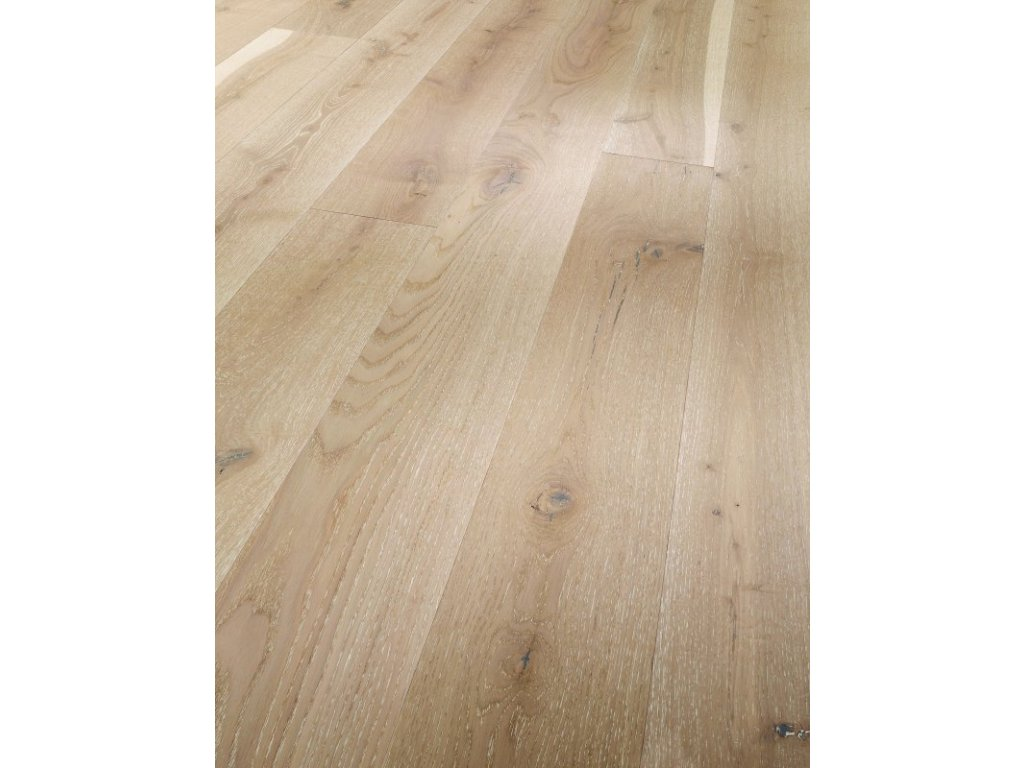 Dřevěná podlaha - Dub bílé póry Rustikal 1595133 lak (Parador) - třívrstvá