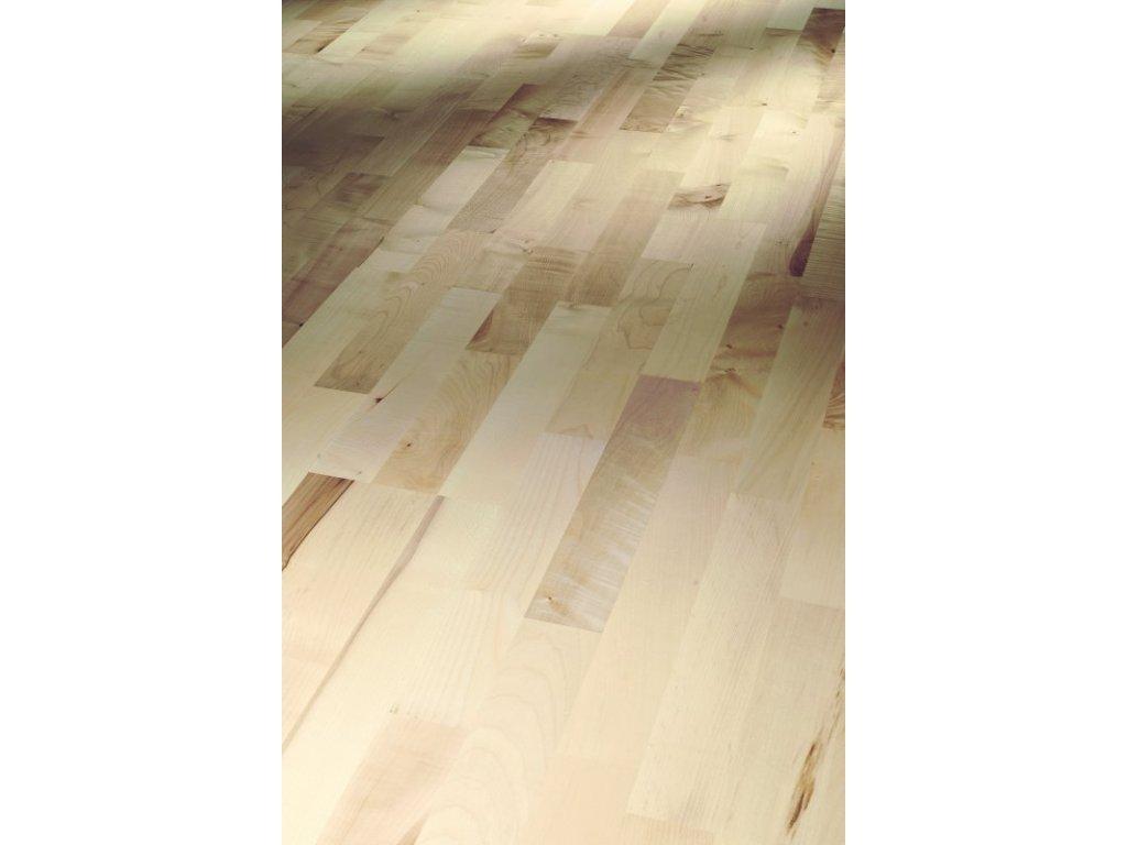Dřevěná podlaha - Javor evropský Rustikal 1366065 lak (Parador) - třívrstvá