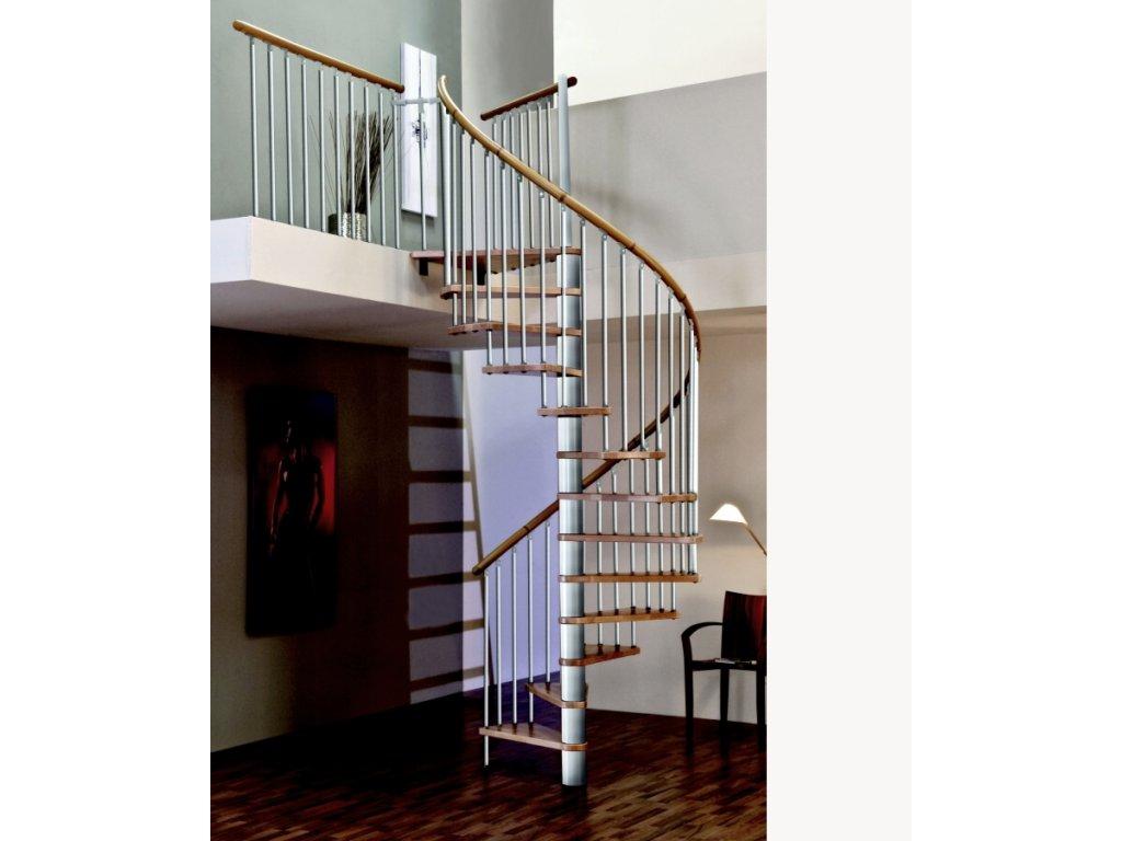 Točité vřetenové schody - Spiral Decor Silver