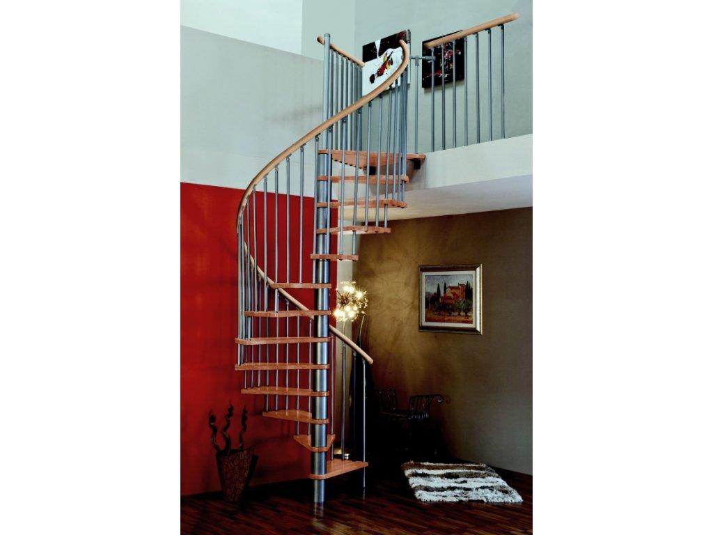 Spiral Wood silver schodiste minka