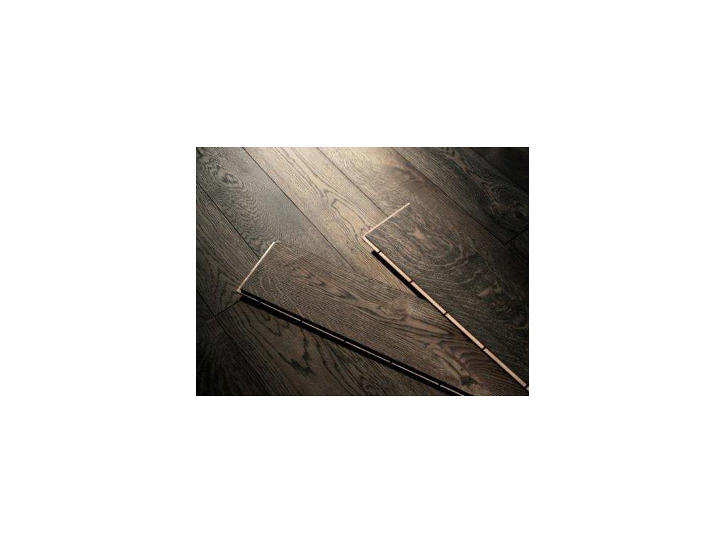 Dřevěná podlaha - Dub black dvouvrstvé prkno (Strawberry parkett) - dvouvrstvá