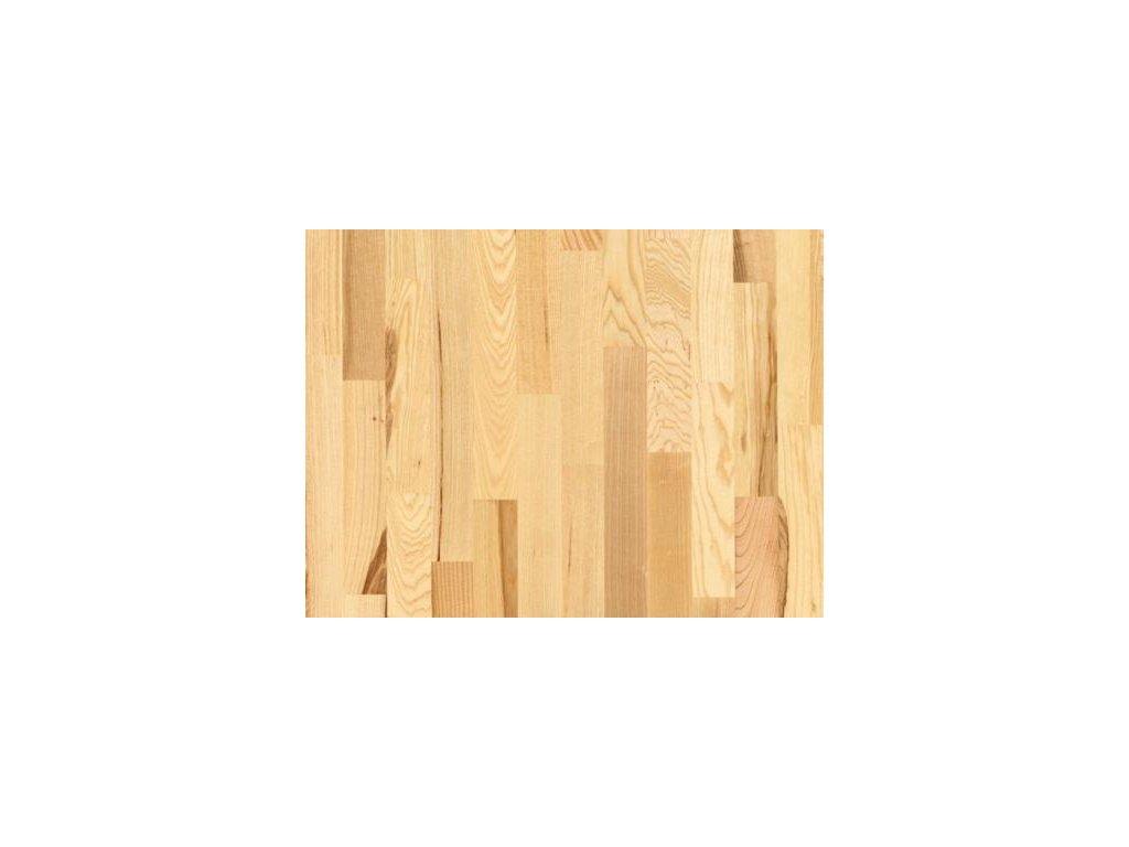 Dřevěná podlaha - Jasan struktur lak (Strawberry parkett) - třívrstvá