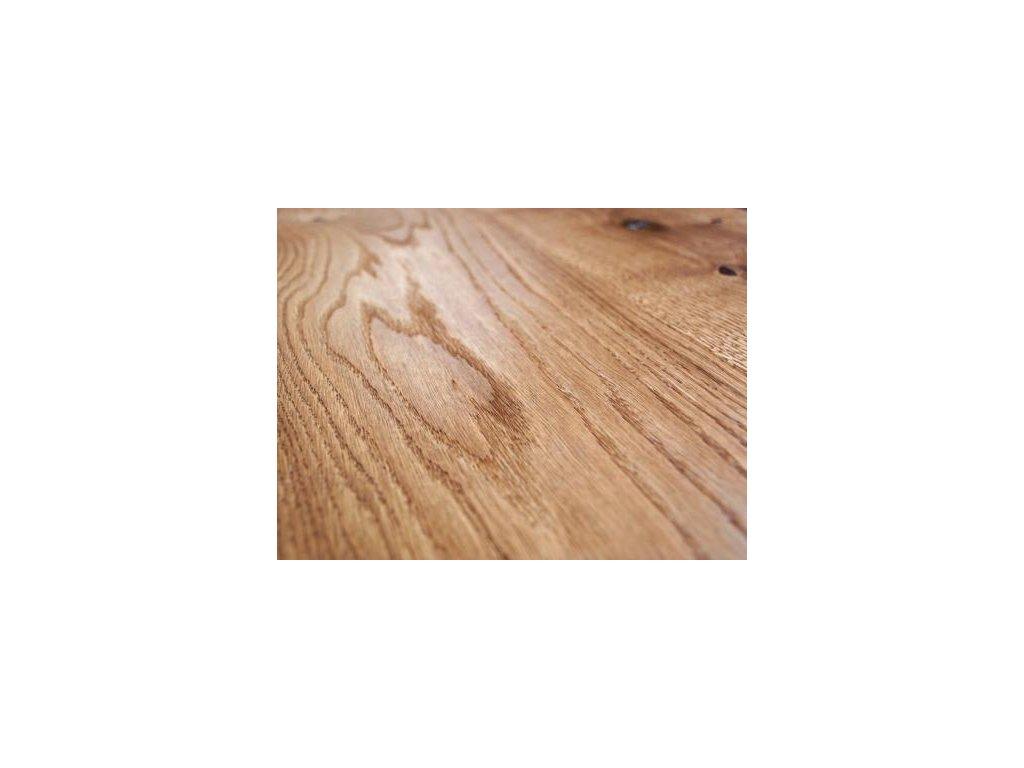 Dřevěná podlaha - Dubové prkno brown country 4 V, kartáčovaný, olej, vosk (Strawberry parkett) - třívrstvá