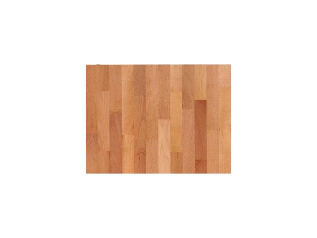 Dřevěná podlaha - Buk pařený natur lak, 3 p. (Scheucher) - třívrstvá