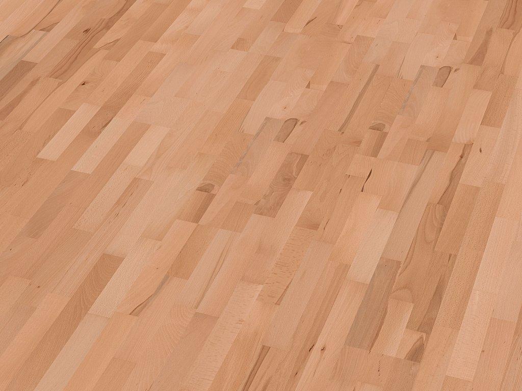 Dřevěná podlaha  - Javor evropský rustikal lak, 3 p. (Scheucher) - třívrstvá