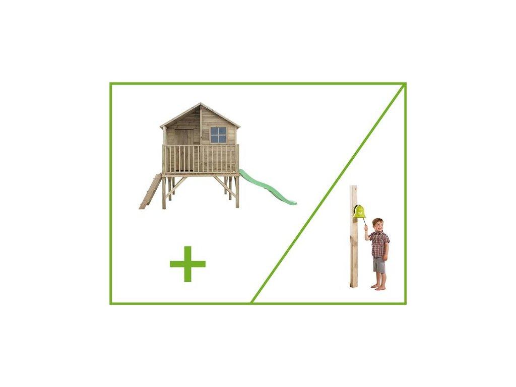 detsky domecek jirik+zeleny zvon zahrada pro deti domek brno dreveny domek|e podlaha