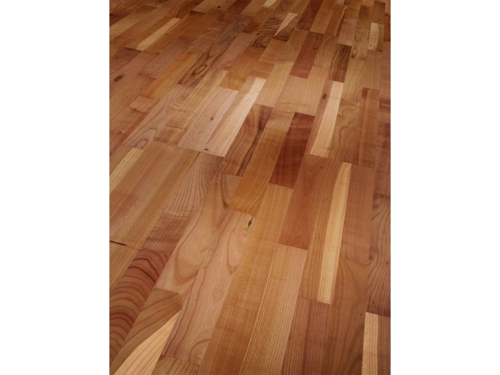 Dřevěná podlaha - Třešeň evropská pařená Rustikal 1595128 lak (Parador) - třívrstvá