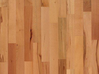 Dřevěná podlaha - Buk pařený struktur lak (Scheucher) - třívrstvá