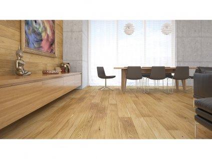Dřevěná podlaha - Dub Azure Window Grande (Barlinek) - třívrstvá