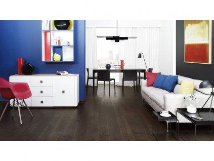 Dřevěná podlaha - Jasan Coffee Grande (Barlinek) - třívrstvá