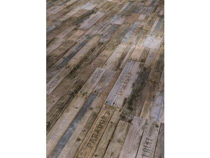 Plovoucí vinylová podlaha Boxwood vintage hnědá, kartáčovaná struktura, 1513468 (Parador)