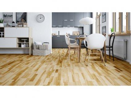 Dřevěná podlaha - Jasan Saimaa Molti (Barlinek) - třívrstvá