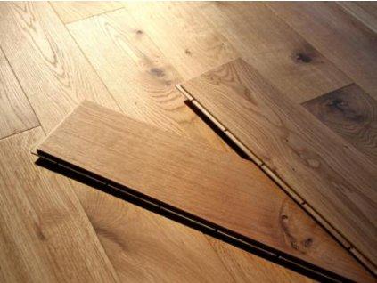 Dřevěná podlaha - Dub natural dvouvrstvé prkno (Strawberry parkett) - dvouvrstvá