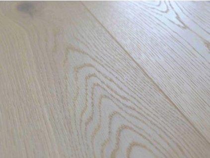 Dřevěná podlaha - Dubové prkno white country, 4V, kartáč, olej/vosk (Strawberry Parkett) - dvouvrstvá