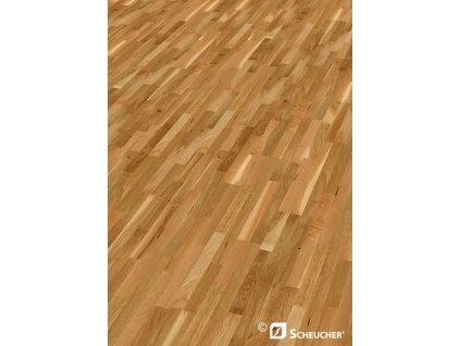 Dřevěná podlaha -  Bříza rustikal lak, 3 p. (Scheucher) - třívrstvá