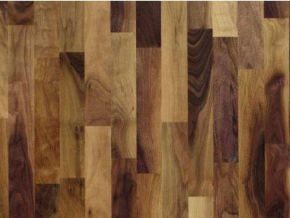 Dřevěná podlaha - Ořech americký struktur lak, 3 p. (Scheucher) - třívrstvá