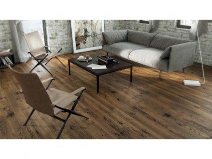 Dřevěná podlaha - Dub Nugat Piccolo (Barlinek) třívrstvá