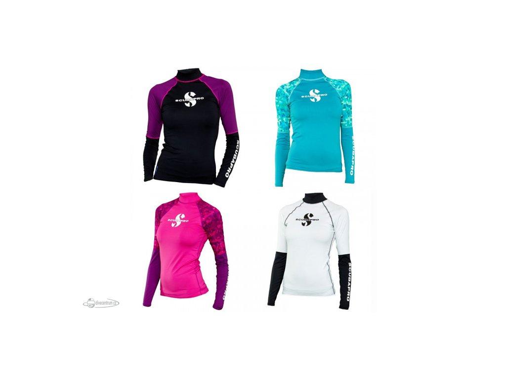 scubapro upf 50 series long sleeve womens rash guard