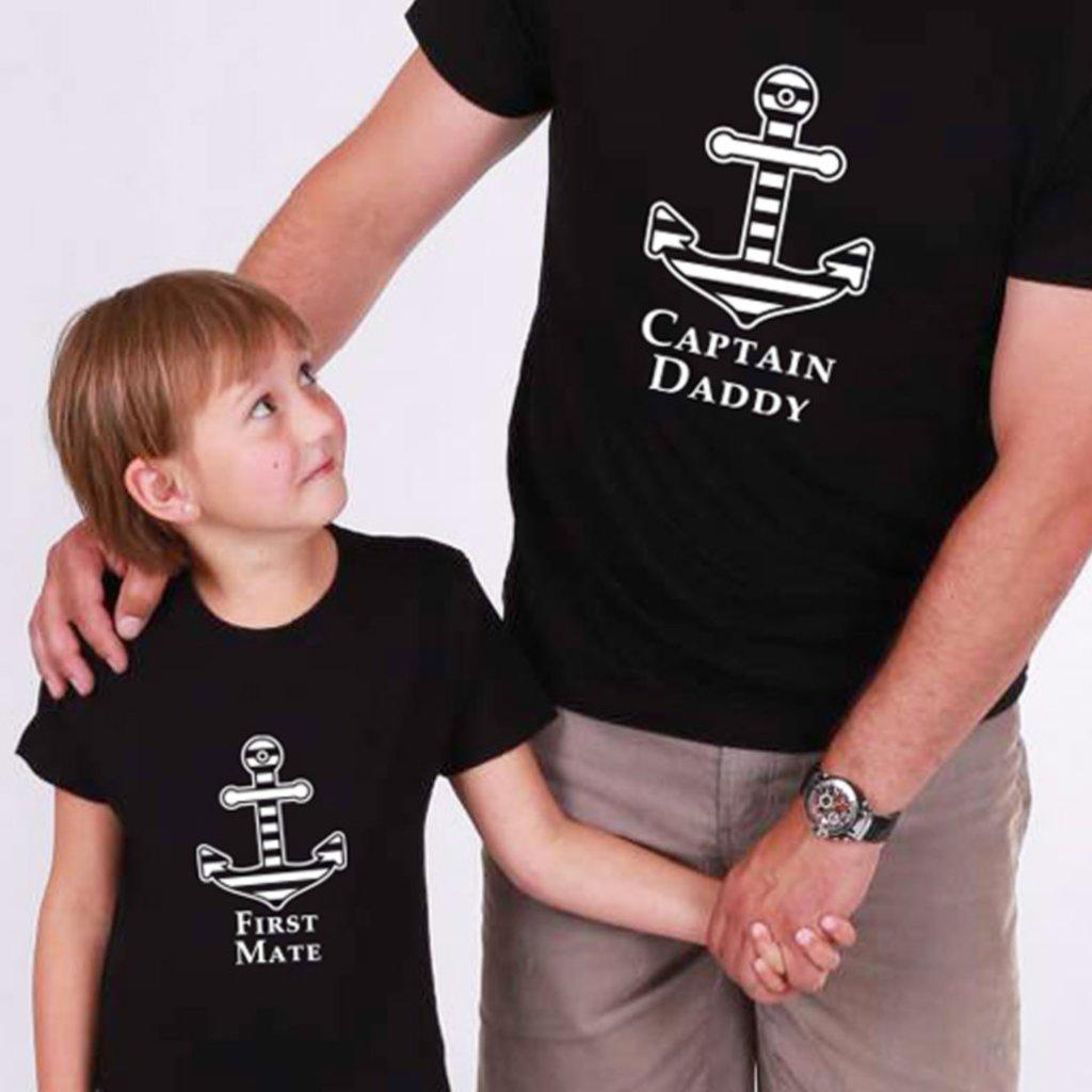Set Captain Daddy & First Mate (cena za obě trička)