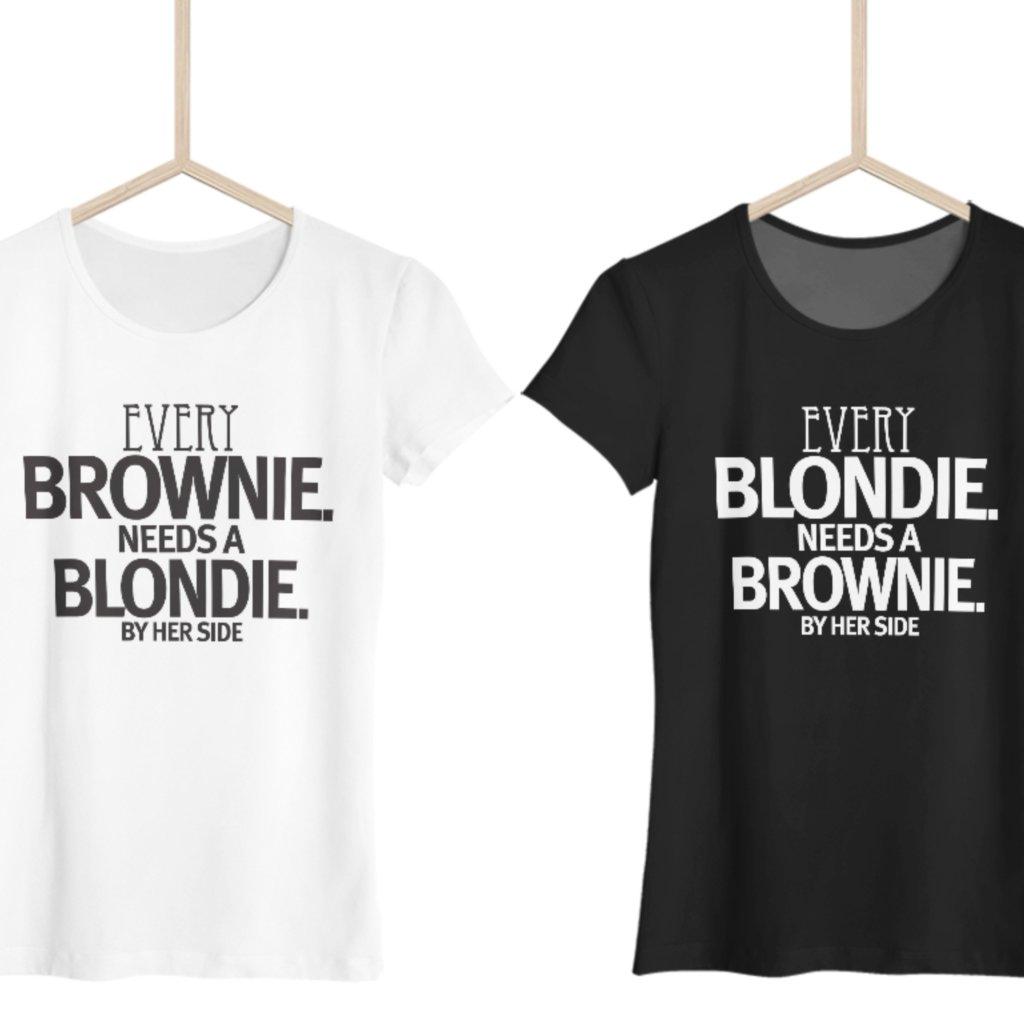 Brownie & Blondie (set dvou dámských triček)