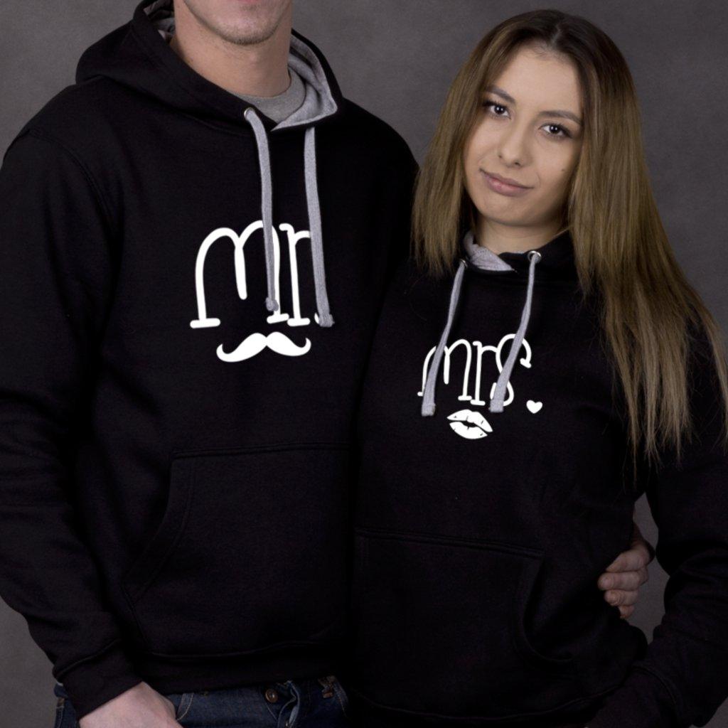 Mikiny Mr & Mrs (cena za obě mikiny)