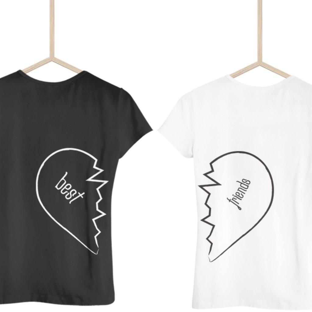 Best Friends Heart (set dvou dámských triček)