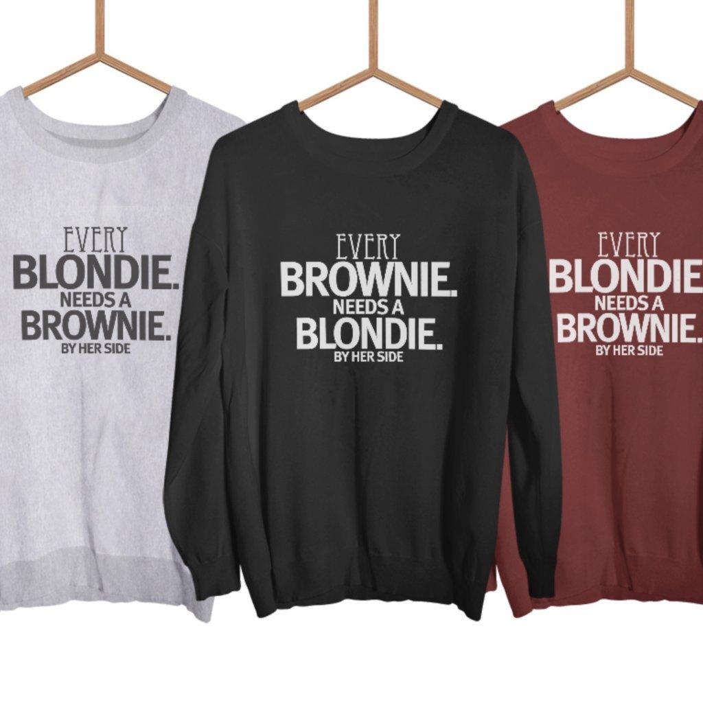 Brownie & Blondie (set dvou mikin bez kapuce)