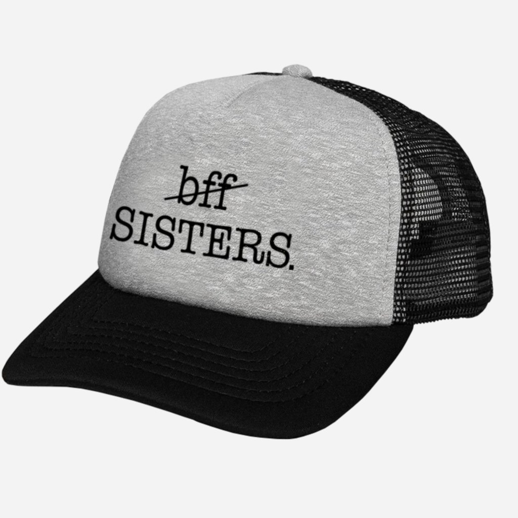 Kšiltovka BFF SISTERS Trucker Grey