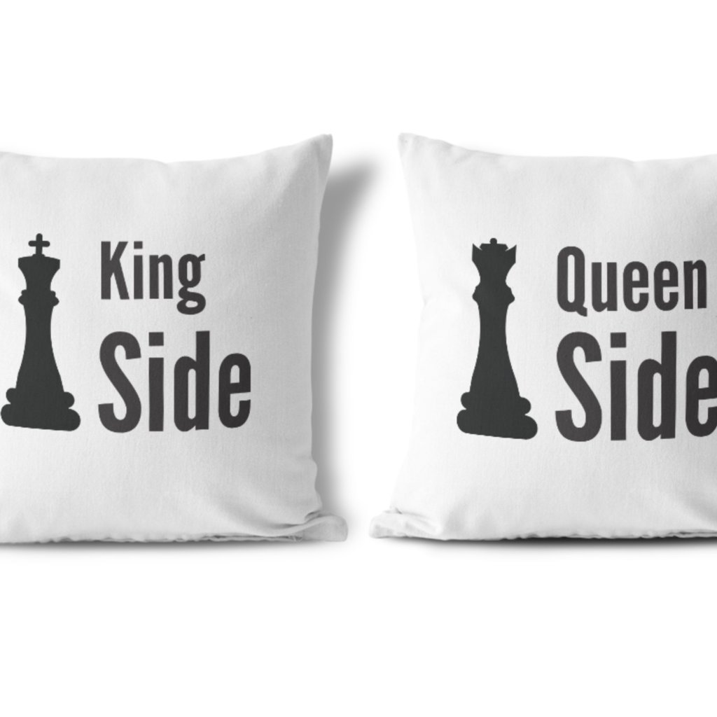 Polštářky KING & QUEEN Chess (cena za oba povlaky)