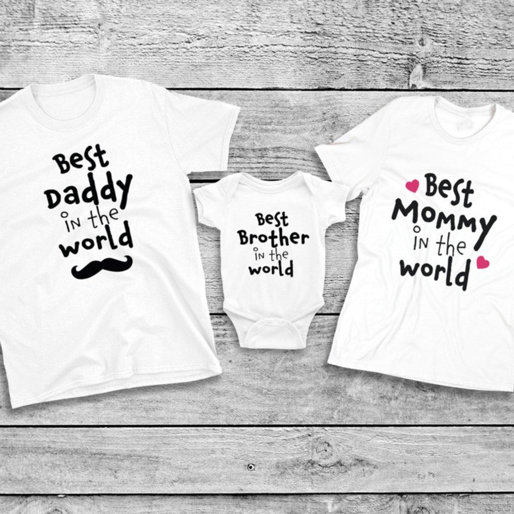 Set triček Best Family In The World