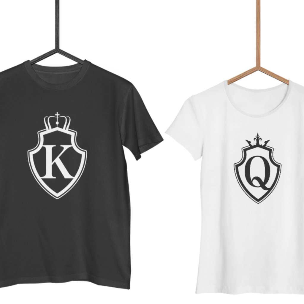 Trička KING & QUEEN Shield (cena za obě trička)
