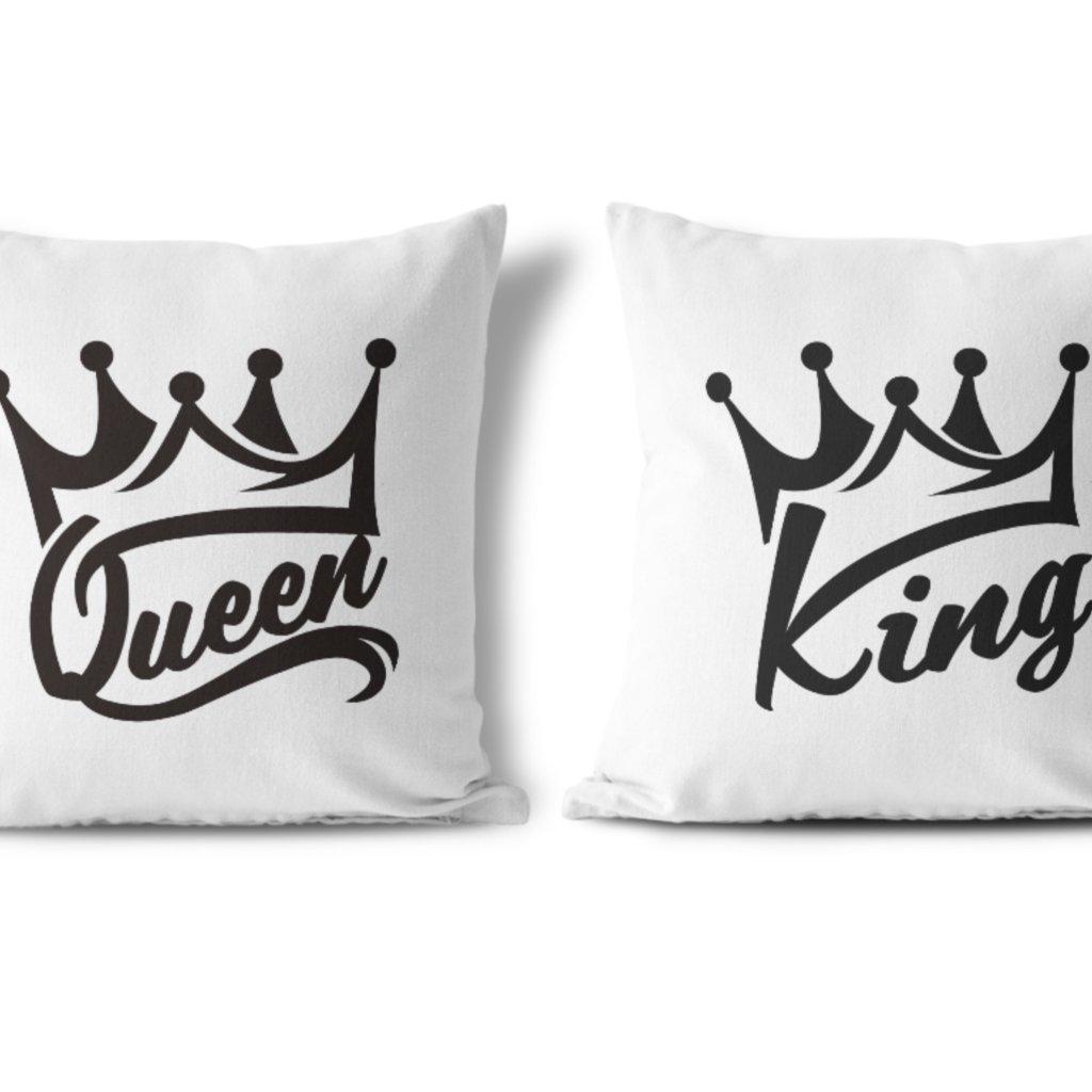 Polštářky KING & QUEEN Black Wildlove (cena za oba kusy)