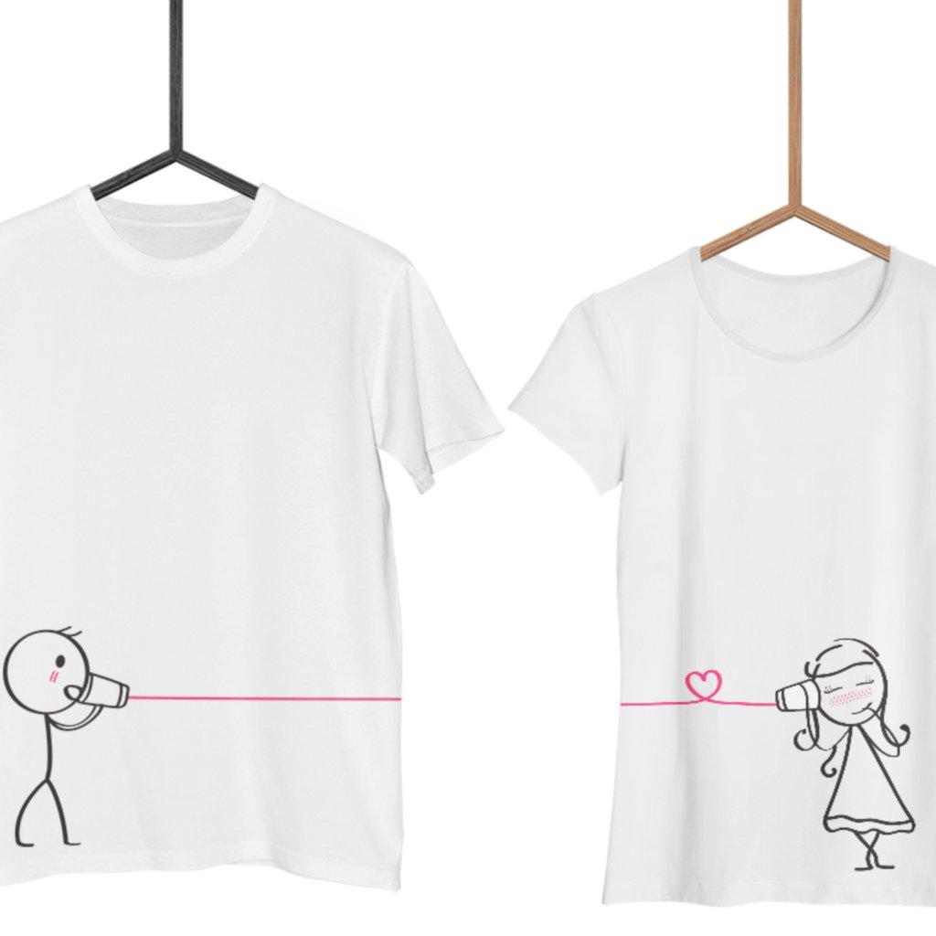 Bílá trička Cute Buddies Whisper (cena za obě trička)