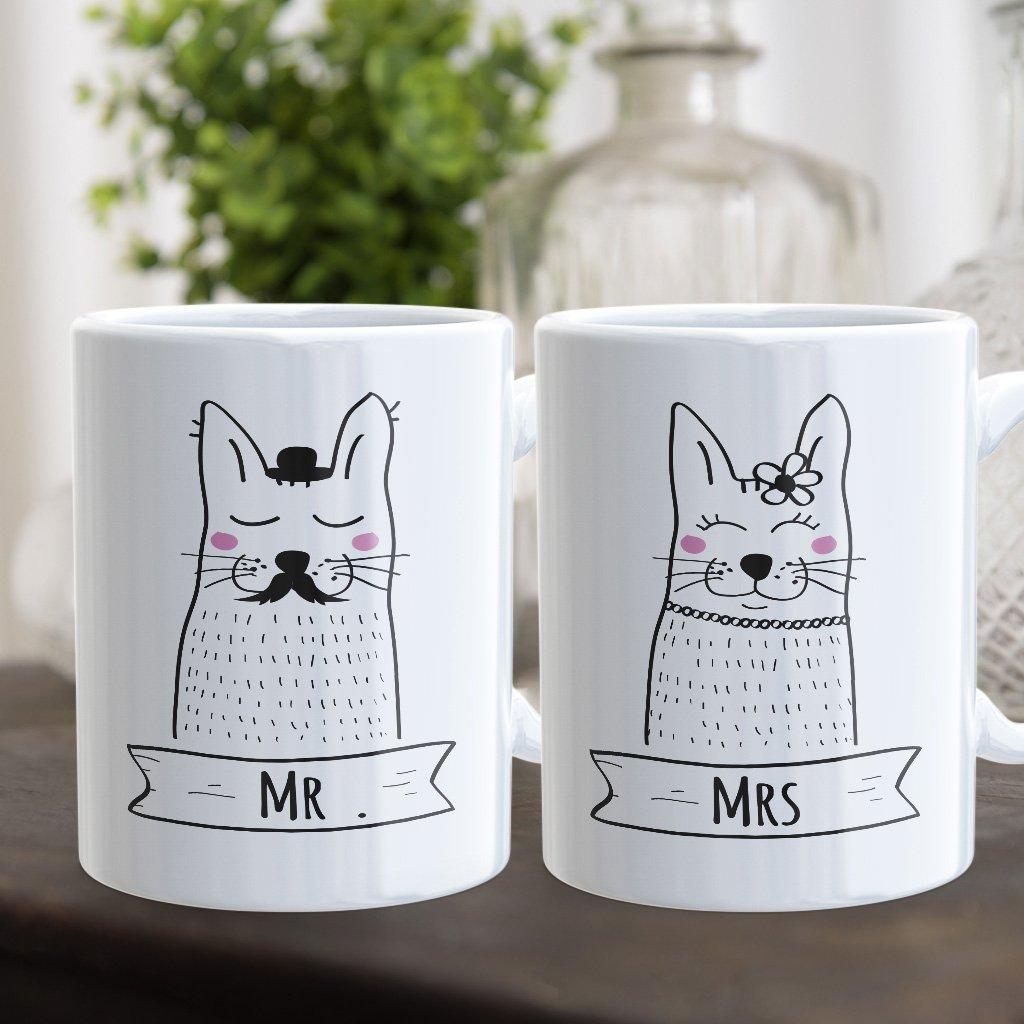 Párové hrnečky Mrs & Mr (cena za oba)