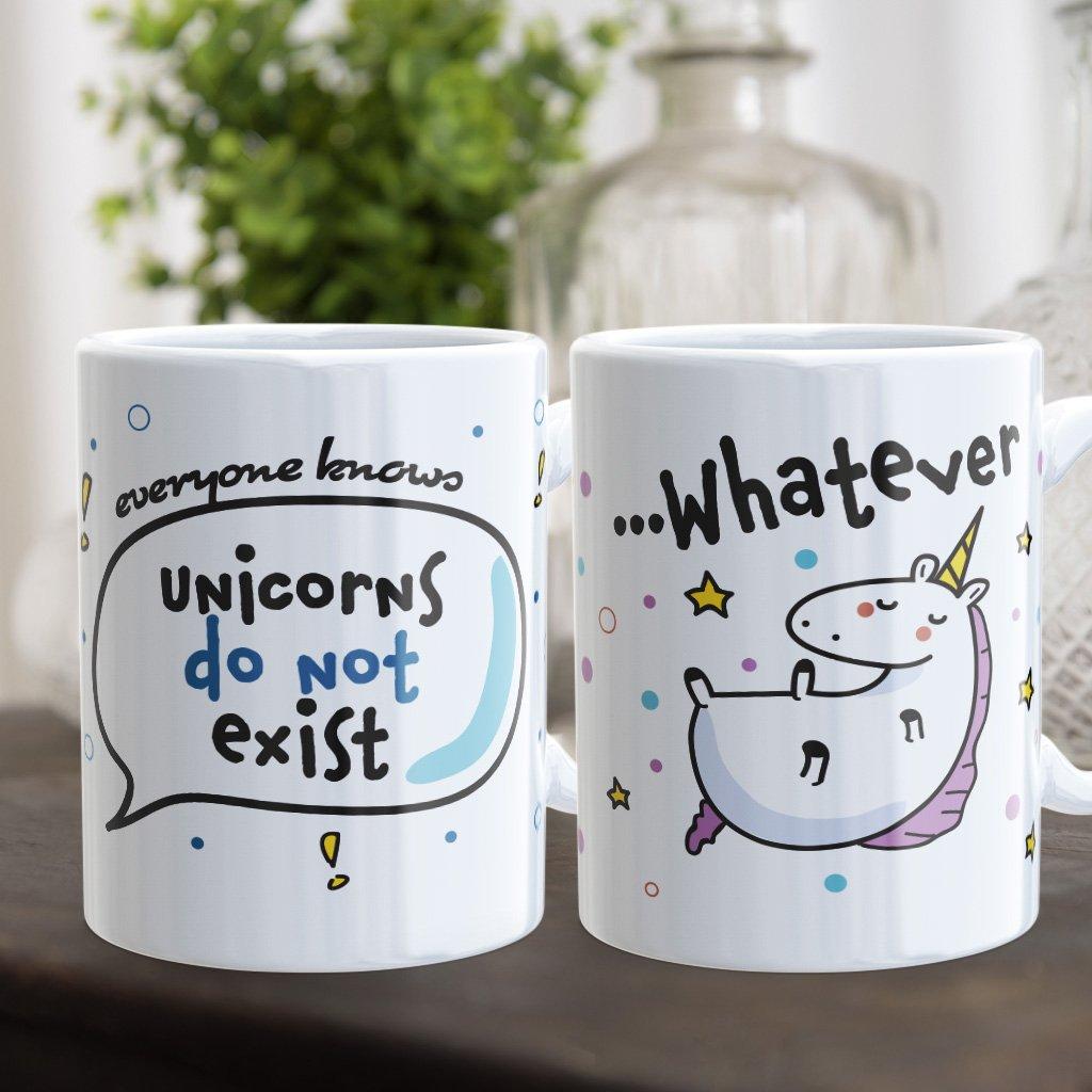 Párové hrnečky Unicorns do not exist (cena za oba)