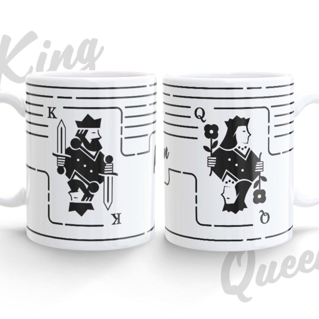 Párové hrnečky King & Queen cards (cena za oba)